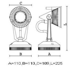 FL4603SI - STRIKE 1 50W/230V SILVER