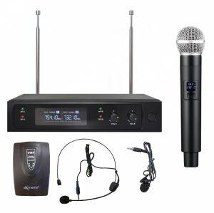 DOPPIO RADIOMICROFONO VHF GELATO + ARCHETTO
